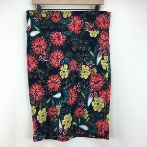 LuLaRoe Cassie Pencil Skirt Floral Size Large